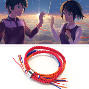 Anime-Your-Name-Bracelet-Kimi-no-Na-wa-Chain-Miyamizu-Mitsuha-Hand-Rope-Lovers