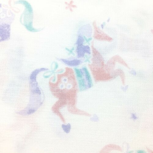 4pc Nicole Miller Unicorn FULL Sheet Set Rose Pink Purple Teal Green Heart Star