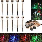 10 Outdoor Copper LED Color Changing/White Solar Landscape Path Garden Light USA