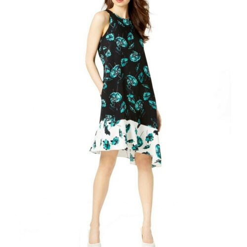 ALFANI NEW Women/'s Printed Sleeveless Asymmetrical A-Line Dress TEDO