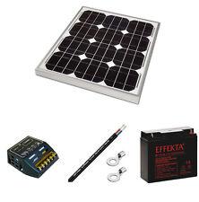Kit panneau solaire 30W 12V avec régulateur de charge et batterie AGM 20Ah.