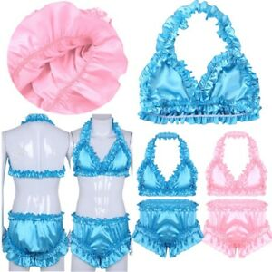 Image is loading Mens-Shiny-Satin-Lingerie-SISSY-BOXER-PANTIES-Brief- 42303521c