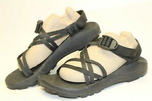 Chaco-Womens-7-38-5-Unaweep-Black-Canvas-Ankle-Strap-Sport-Sandals-Shoes