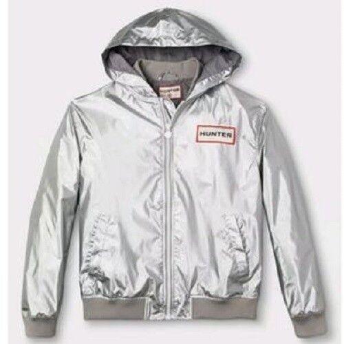 1d6c5004f Hunter for Target Men's Hooded Windbreaker Rain Jacket Silver NWT