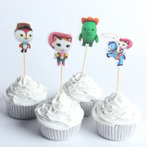 Awesome 12 X Sheriff Callie Cake Picks Cupcake Toppers Kids Birthday Party Funny Birthday Cards Online Alyptdamsfinfo