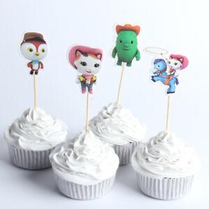 Fantastic 12 X Sheriff Callie Cake Picks Cupcake Toppers Kids Birthday Party Birthday Cards Printable Giouspongecafe Filternl