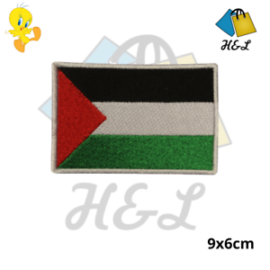 PALESTINE National Flag Embroidered Patch Iron on Sew On Badge For Clothes Bags