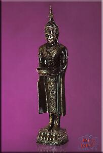 Figur-Buddha-Statue-Tempelwaechter-Dekofigur-Skulptur-Kunstharz