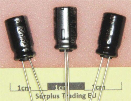 Panasonic Radial Condensateur électrolytique 4u7F 160 V 105 C Lot de 5