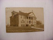 Real Photo Postcard RPPC Ursiline Academy Miles City Montana MT 1909 #2090