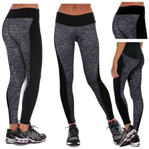 Women High Waist Yoga Fitness Running Gym Stretchy Leggings Sport Pants Trousers