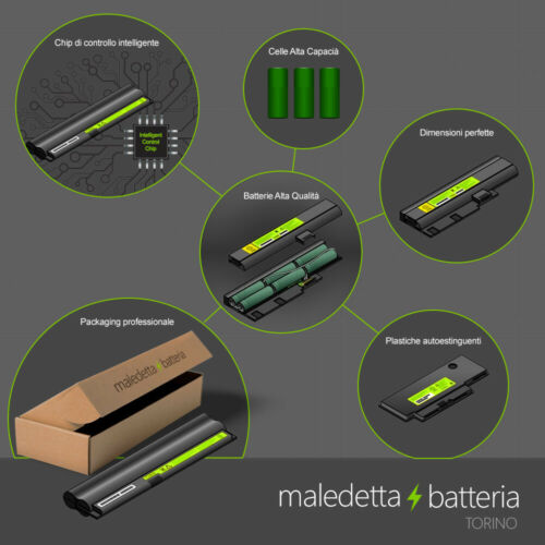 Batteria 10.8-11.1V 5200mAh per Dell Latitude D600