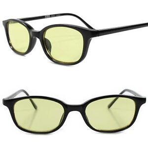 ca66224a55 Classic True Vintage 70s Deadstock Yellow Lens Black Frame Rectangle ...