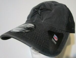 New-Era-9Twenty-Dallas-Cowboys-Cap-Hat-men-tonal-washed-black-trucker-mesh-back