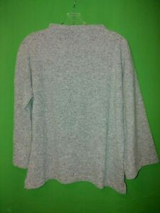 0339) BANANA REPUBLIC medium M gray pullover knit top loose fit high neck M