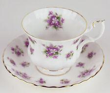 TEACUP & SAUCER Royal Albert SWEET VIOLETS vintage bone china England
