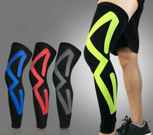 Kid-Adult-Basketball-Leg-Knee-Pad-Long-Sleeve-Protector-Gear-Shockproof-Antislip