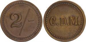 Deutsch-Sudwestafrika-ORANJE-Luderitz-marque-de-valeur-a-2-Le-diamantenmine