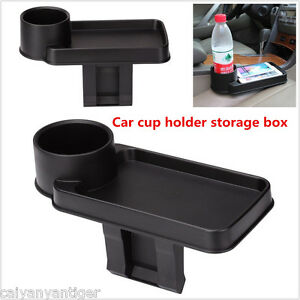 black car interior snack tray food drink bottle rack cup holder mount stand 1. Black Bedroom Furniture Sets. Home Design Ideas