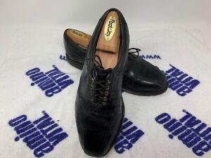 Clean-FootJoy-Premiere-Classics-Black-Lizard-Saddle-Golf-Shoes-50657-SZ-8-5-D