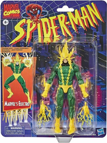 "Electro 6/"" Action Figure Hasbro Marvel Legends Spider-Man Retro Collection"