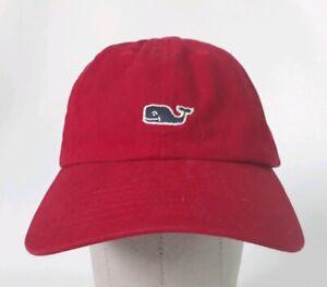 870bdef100db7 Image is loading Vineyard-Vines-Red-Baseball-Cap-Hat-Adjustable-Strap-