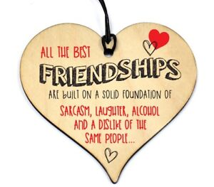 765-Friendship-Sign-Best-Friend-Plaque-Gift-Shabby-Chic-Wood-Hanging-Heart