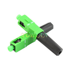 10PCS-FTTH-Optical-Fiber-Connector-SC-APC-Covered-WireFiber-Optic-Fast-Connector
