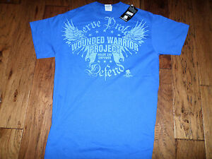 U.S MILITARY WOUNDED WARRIOR PROJECT T-SHIRT BLUE MEDIUM