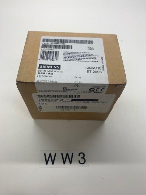 SIEMENS SIMATIC 6ES7 131 4CD00 0AB0 Digital Input Module 4 DI UC24 48V