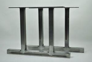 Metal table legsindustrialvintageloftcustom sizeshandmade in image is loading metal table legs industrial vintage loft custom sizes watchthetrailerfo