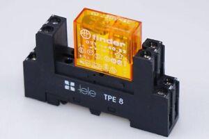 Finder-Relais-40-52-230VAC-5A-250V-mit-TELE-Sockel-Typ-TPE8