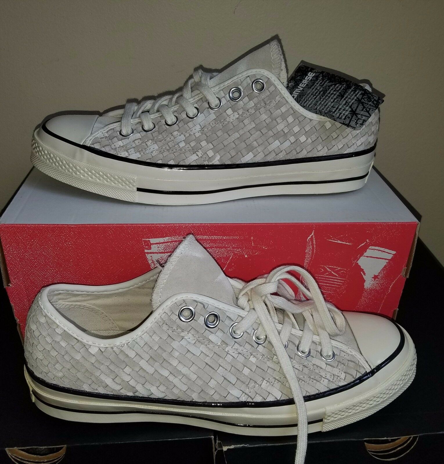 540a3dfcc04087 NEW AUTHENTIC CONVERSE CHUCK TAYLOR ALL STAR STAR STAR  70 WOVEN OX SHOES  US 10.5 980072