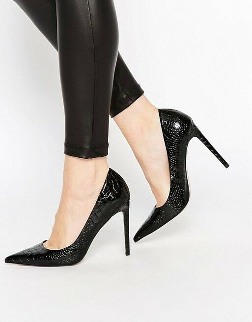 ASOS Platinum Pointed High Heels, Black - UK 5.5 EU 38.5