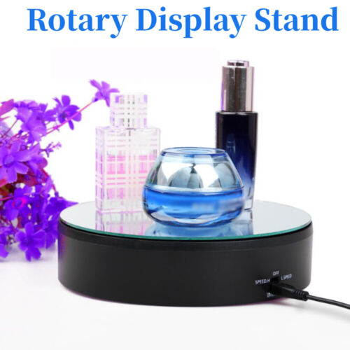 Electric 360° Rotary Turntable Photography Rotary Table Jewelry Display Stand UK