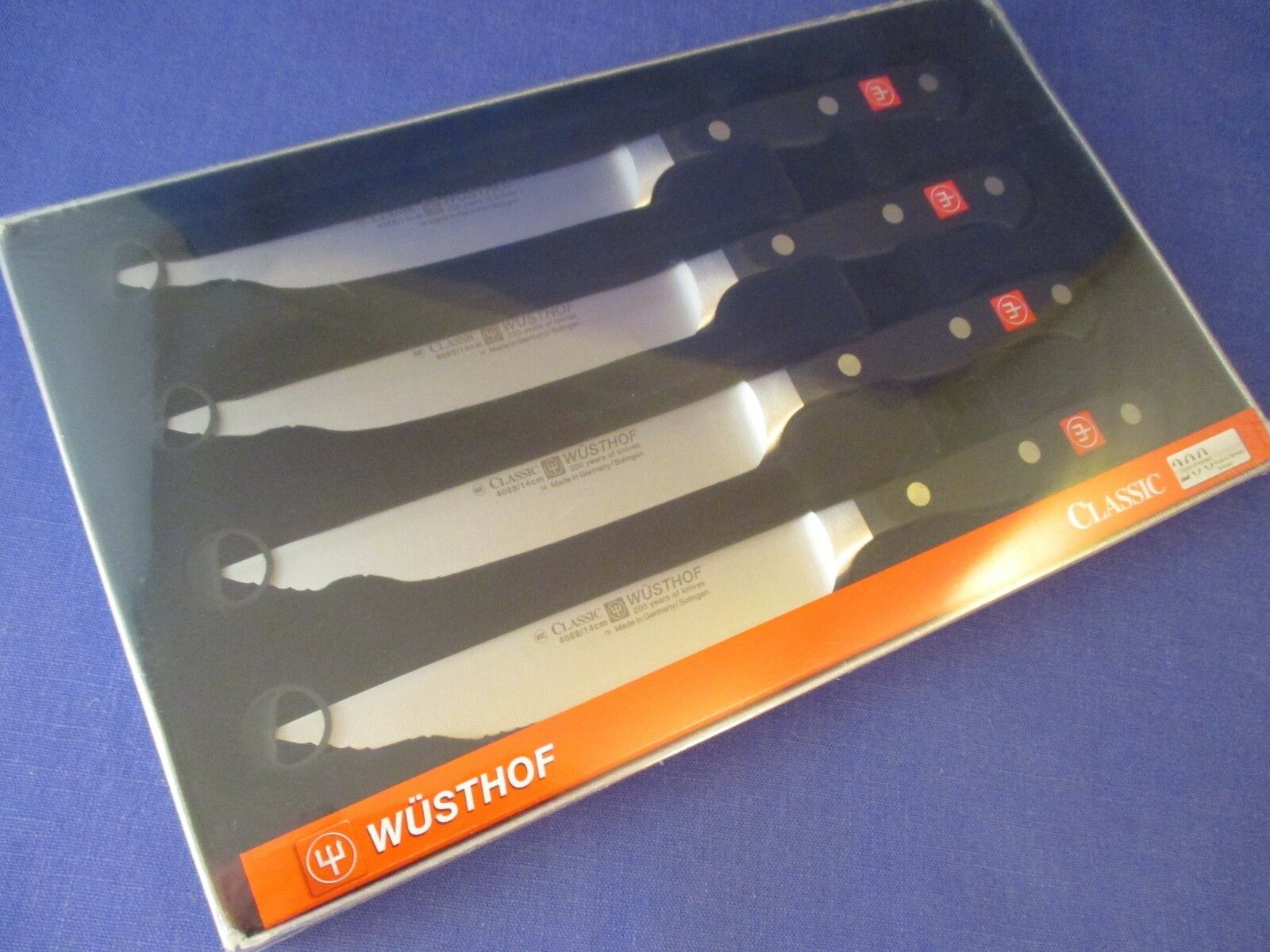 Wusthof Classic 4 Piece Steakhouse Steak Knife Set - 9733 - NIB