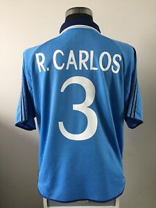 832c58a3a54 R. CARLOS  3 Real Madrid Third Football Shirt Jersey 1999 2000 (XL ...