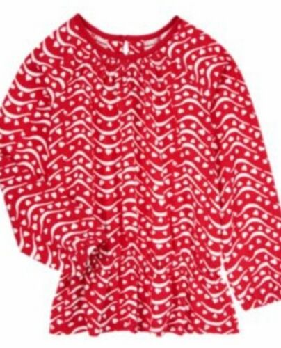 Gymboree Valentine/'s Day 5 8 Red Heart Stripe Pattern Shirt 14