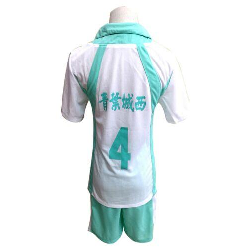 Aoba Johsai High School Uniform Iwaizumi Hajime Cosplay Costume Outfit Haikyuu