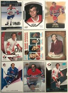 Guy-Lafleur-9-Card-Lot-Montreal-Canadiens-Upper-Deck-MVP-78-79-Topps-Vintage