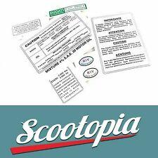 Scootopia Lambretta Universal Waterslide Set G13