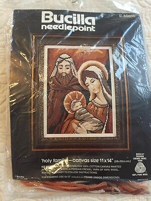 Bucilla Needlepoint Holy Family Nativity Christmas New Sealed 11X14
