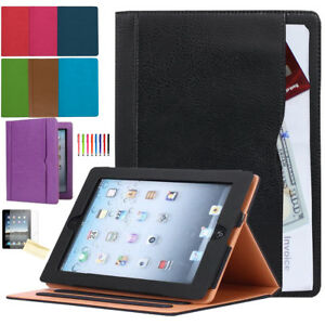 Soft-Leather-Smart-Case-Cover-Stand-Wallet-Pocket-for-Apple-iPad-2-3-4-Air-9-7