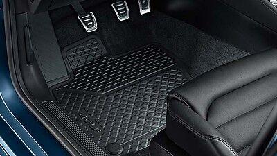 3D1061501A 041 Original VW Phaeton 3D Gummimatten vorn Gummifußmatten schwarz