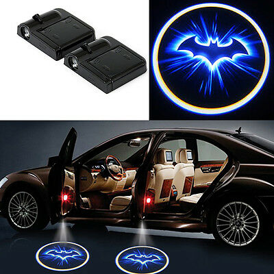1X Wireless Auto Car Bat Door Light Ghost Shadow Blue LED Car Logo Laser