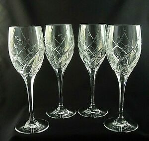 """ENGLISH GARDEN by Mikasa Crystal WATER Goblets Glasses 9"""" - Set of 4"""