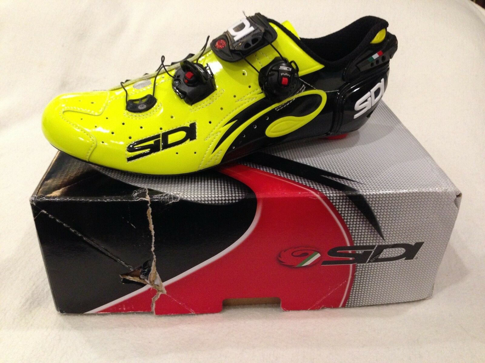 New in Box Sidi Men's Wire Vent Push Carbon Road Cycling shoes US 11 D M