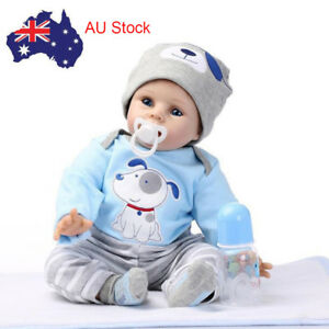 "22"" Reborn Toddler Dolls Handmade Lifelike Baby Silicone Vinyl Doll Boy AU Stock"