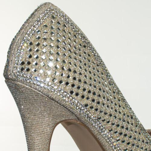 Darling31 Rhinestone Crystal Pearl Embelish Peep Toe High Heel Bridal Party Pump