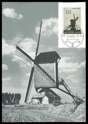 Europa Geschickt Niederlande Mk 1963 WindmÜhle Windmill Maximumkarte Maximum Card Mc Cm Ac26 Briefmarken